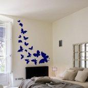 Настінна наклейка Uzuri Летять метелики 565х1000 мм