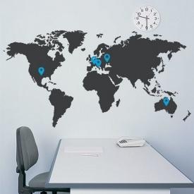 Настінна наклейка Uzuri Карта світу 1500х800 мм