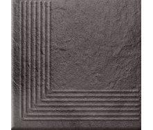 Ступень угловая Opoczno Solar steptread corner structure G1 30х30 см graphite