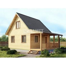 Проект будинку з терасою під ключ C-59 8х6 м