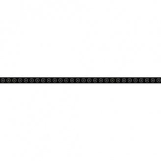 Фриз Paradyz Piumetta Nero скляний 23х595х8 мм