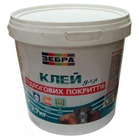 Клей для напольных покрытий Зебра 2,7 кг