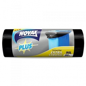 Пакеты для мусора Novax Plus 90 л 20 шт