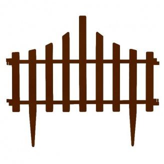 Набор ограждение для газона Заборчик 4в1 Белый флок