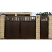 Распашные ворота Alutech Comfort комбинированное заполнение