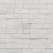 Плитка гипсовая декоративная Оксфорд белый 250x50 мм