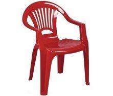 Стул пластиковый кресло Луч красный