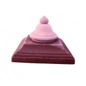 Крышка на столб Звон 450х450 мм красная