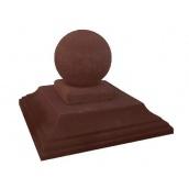 Крышка на столб Шар 550х550 мм коричневая
