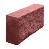 Блок декоративный колотый заборный 90х190х390 мм красный