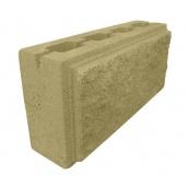 Блок декоративный колотый фасковий 390х90х190 мм желтый