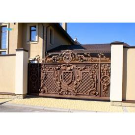 Откатные кованые ворота 5000х2000 мм