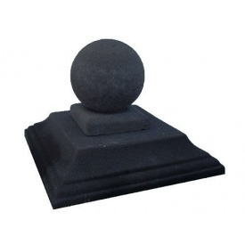 Крышка на столб Шар 550х550 мм черная