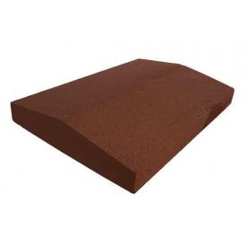 Парапет прессованный широкий 390х270х60 мм коричневый