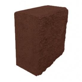 Блок декоративний половинка 90х190х190 мм коричневий