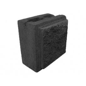 Блок декоративний фасковий половина чорний