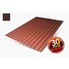 Металлопрофиль Никобуд Т-14 Стандарт 0,45 мм 1200/1100 мм PEМА коричневый шоколад (RAL 8017)