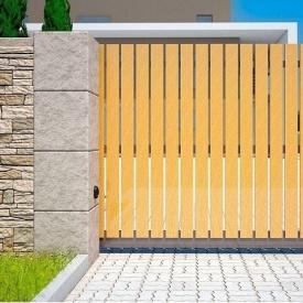 Откатные ворота Alutech Comfort комбинированное заполнение