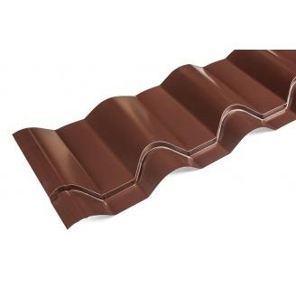 Металлочерепица Ретро 0,35 мм мат коричневая