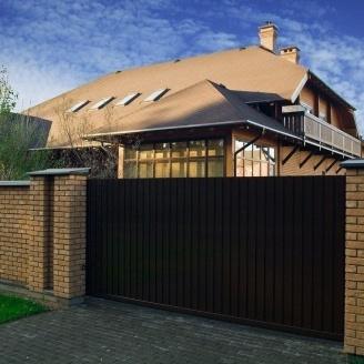 Откатные ворота Alutech Elegant экструдированный алюминиевый профиль