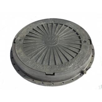 Люк садовой пластмассовый легкий с замком 100х760 мм серый (13.07.1)