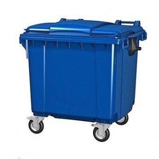 Пластиковый мусорный бак 1100 л