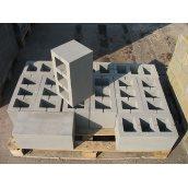 Блок стеновой из тяжелого бетона СБ-Пр-Ц-Р-200.200.188 внешний