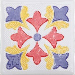 Плитка декоративна АТЕМ Bonny Rosette 2 W 108х108 мм