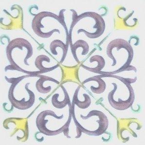 Плитка декоративна АТЕМ Bonny 5 Mira 108х108 мм