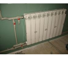 Монтаж стального радиатора