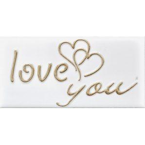Плитка декоративна АТЕМ Sandra Love 1 W 76х152 мм