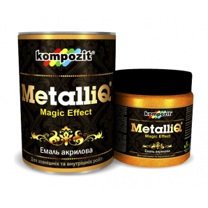 Емаль акрилова Kompozit METALLIQ металік 12 кг римське золото