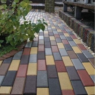 Тротуарная плитка Золотой Мандарин Кирпич узкий 210х70х60 мм серый
