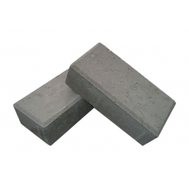 Тротуарная плитка ЕКО Кирпичик 200х100х25 мм графит