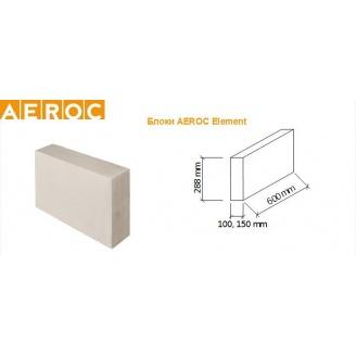 Газоблок AEROC D-500 100х288х600 мм
