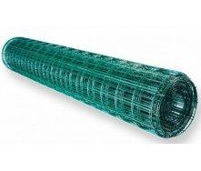 Сетка для ограждения сварная оцинкованная с покрытием ПВХ 2,2 мм 50x50 мм 1,5х10 м зеленая