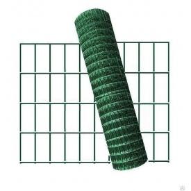 Сетка для ограждения сварная оцинкованная с покрытием ПВХ 2,2 мм 50x100 мм 1,5х10 м зеленая