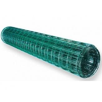 Сітка для огорожі зварна оцинкована з покриттям ПВХ 2,2 мм 50x50 мм 1,5х10 м зелена