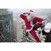 Праздничное появление Деда Мороза через окно