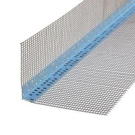 Профіль Masterplast ПВХ з сіткою із скловолокна для зовнішніх кутів 70х70х2500 мм