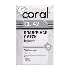 Кладочна суміш Coral CL-42 зимова 25 кг