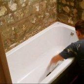 Установка ванны под ключ