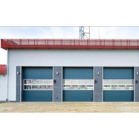 Промышленные секционные ворота Алютех 3000x3085 мм