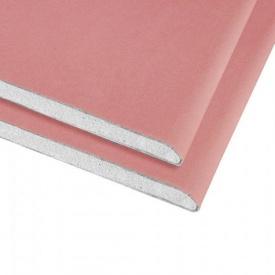 Гіпсокартон вогнестійкий Knauf 12,5 мм 1,2х2,5 м рожевий