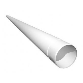 Труба водостічна Ruukki 100 мм 4 м білий