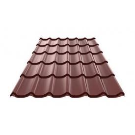Металлочерепица Ruukki RanTech M 39 P polyester шоколадный