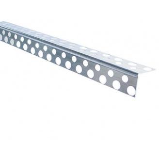 Уголок перфорированный алюминиевый 2,5 м 0,2мм