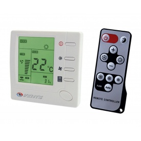 Регулятор температури Vents РТСД-1-400 пластик IP 40 88х88х51 мм з ДПУ