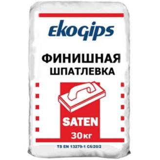 Фінішна шпаклівка Сатенгіпс Екогіпс 30 кг