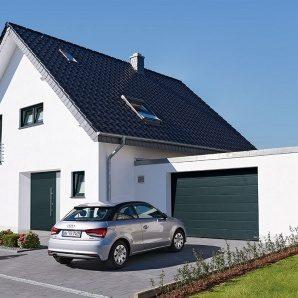 Ворота гаражні секційні Hormann RenoMatic 2750x2125 мм decograin Titan Metallic